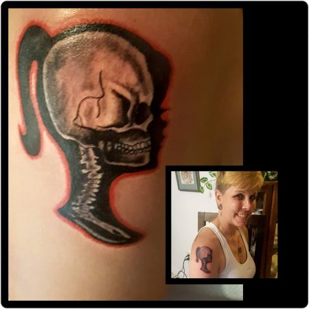 Barbie Skull Skeleton Tattoo