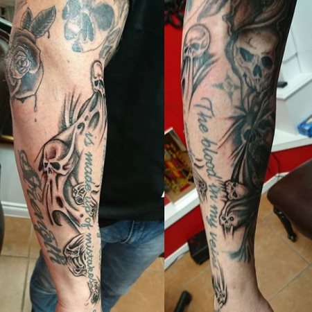 Skull Tattoo - Skull Sleeve
