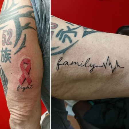 Ribbon Tattoo & Family Tattoo
