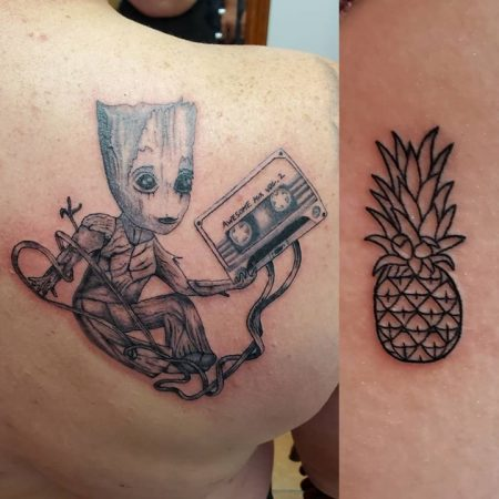 Groot Tattoo - Revolution Ink